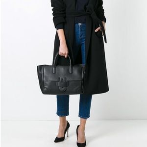 Tila March Zelig Tote Bag Black Leather